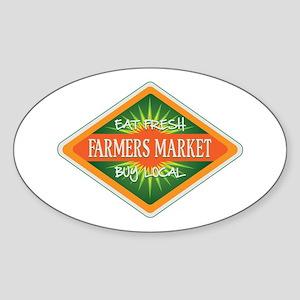 Eat Fresh Farmers Market Sticker (Oval)