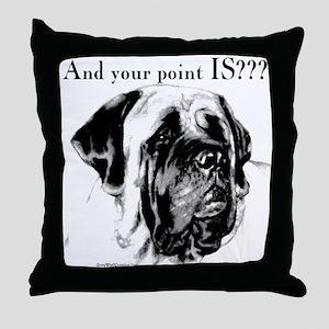 Mastiff 135 Throw Pillow