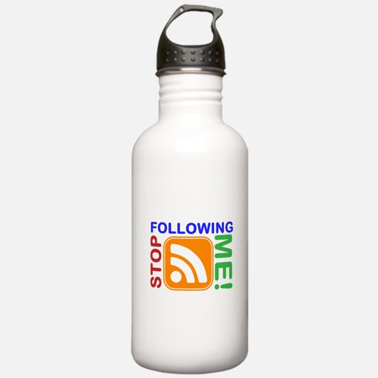 Stop Following Me! RSS Icon Water Bottle
