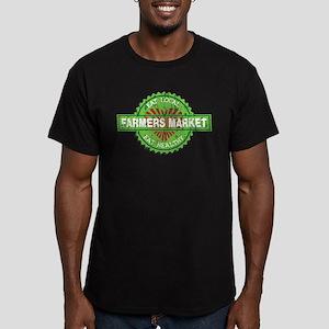 Farmers Market Heart Men's Fitted T-Shirt (dark)