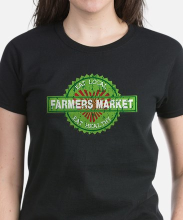 Farmers Market Heart Women's Dark T-Shirt
