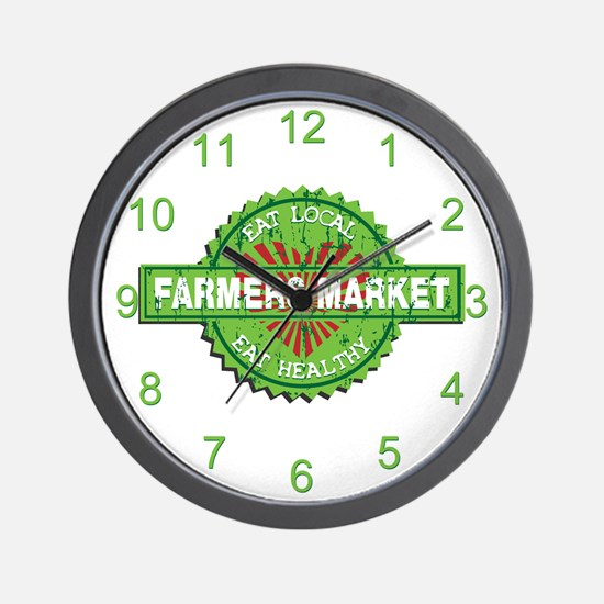 Farmers Market Heart Wall Clock