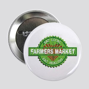 "Farmers Market Heart 2.25"" Button"