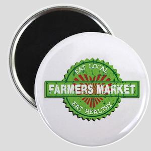 Farmers Market Heart Magnet