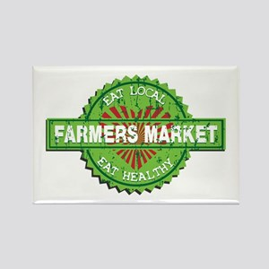 Farmers Market Heart Rectangle Magnet