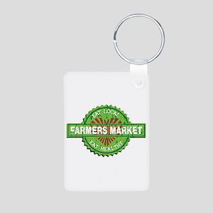 Farmers Market Heart Aluminum Photo Keychain