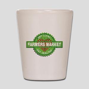 Farmers Market Heart Shot Glass