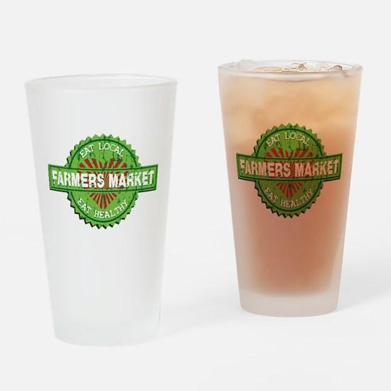 Farmers Market Heart Drinking Glass
