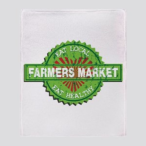 Farmers Market Heart Throw Blanket