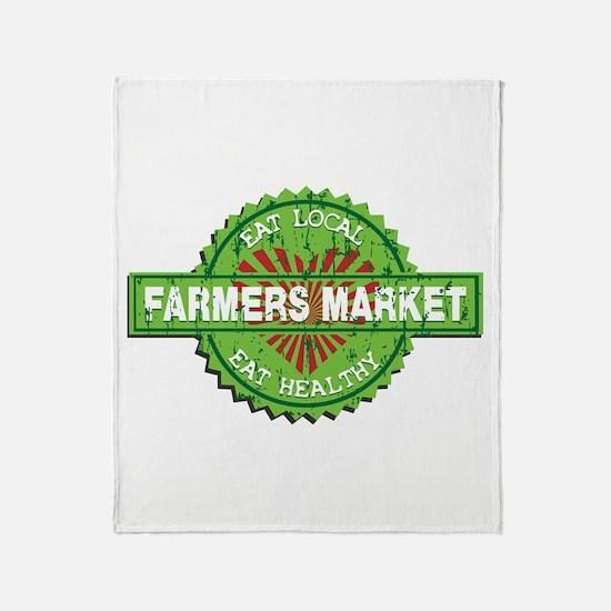 Farmers Market Heart Throw Blanket
