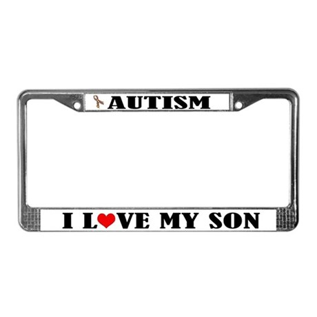 Autism I Love My Son License Plate Frame by funlicenseframe