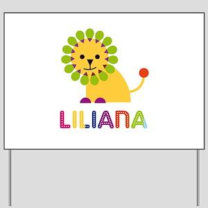 Liliana the Lion Yard Sign