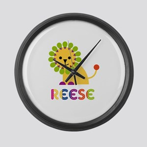Reese the Lion Large Wall Clock