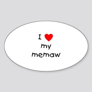 I love my memaw Oval Sticker