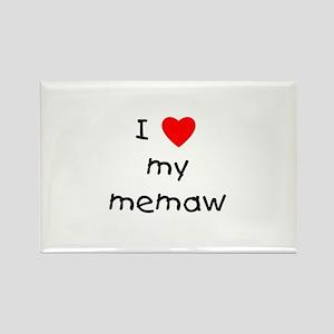 I love my memaw Rectangle Magnet