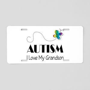 Autism I Love My Grandson Aluminum License Plate