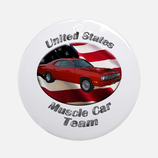 Plymouth Duster Ornament (Round)