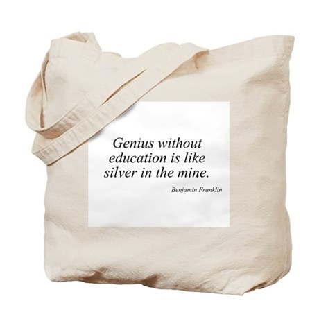 Benjamin Franklin quote 50 Tote Bag