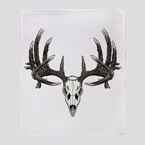 Big whitetail buck Throw Blanket