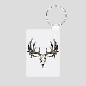 Big whitetail buck Aluminum Photo Keychain