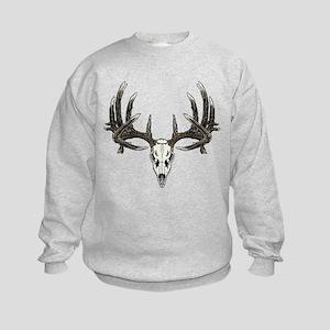 Big whitetail buck Kids Sweatshirt