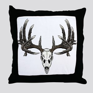 Big whitetail buck Throw Pillow