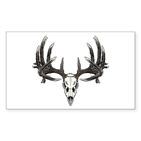 Big whitetail buck Sticker (Rectangle)