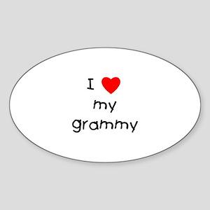 I love my grammy Sticker (Oval)