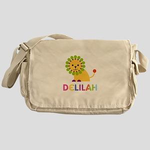 Delilah the Lion Messenger Bag