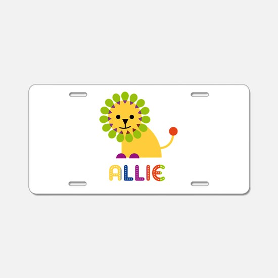 Allie the Lion Aluminum License Plate