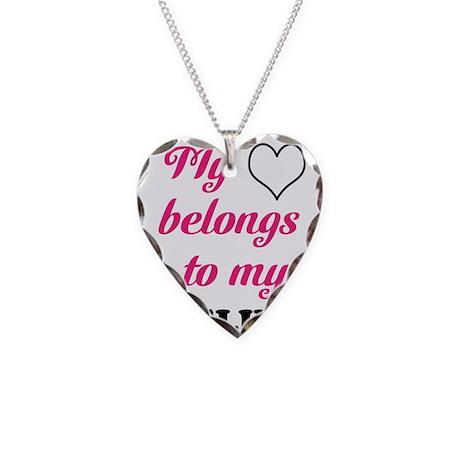 My Heart Belongs to my Pipeli Necklace Heart Charm
