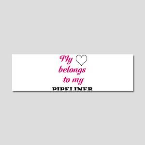 My Heart Belongs to my Pipeli Car Magnet 10 x 3