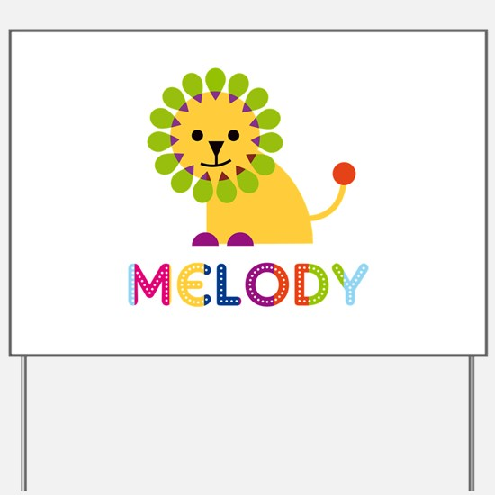 Melody the Lion Yard Sign