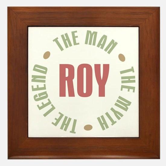 Roy Man Myth Legend Framed Tile