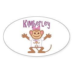 Little Monkey Kimberley Sticker (Oval)