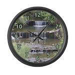 Mini Waterfalls Large Wall Clock