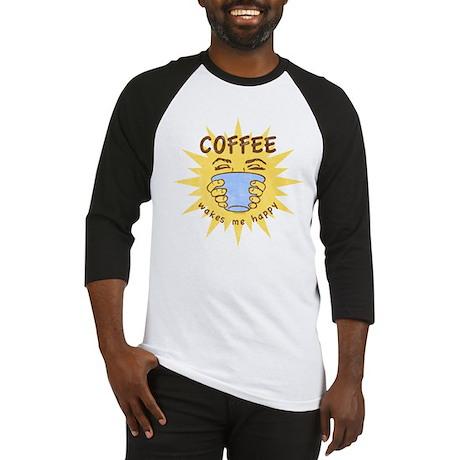 Coffee Wakes Me Happy Baseball Jersey