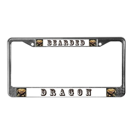 Bearded Dragon License Plate Frame by whitewolfspirits