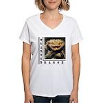 Bearded Dragon Women's V-Neck T-Shirt