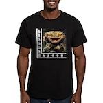 Bearded Dragon Men's Fitted T-Shirt (dark)