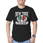 New York Italian Men's Fitted T-Shirt (dark)