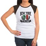 New York Italian Women's Cap Sleeve T-Shirt
