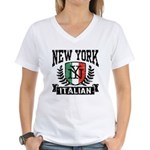 New York Italian Women's V-Neck T-Shirt
