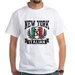 New York Italian White T-Shirt