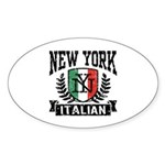 New York Italian Sticker (Oval)