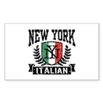 New York Italian Sticker (Rectangle)