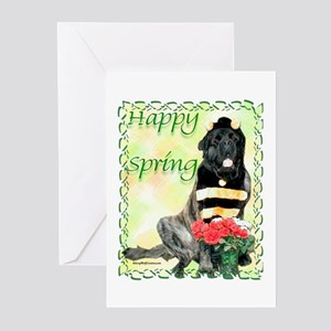 Mastiff Easter 4 Greeting Cards (Pk of 10)