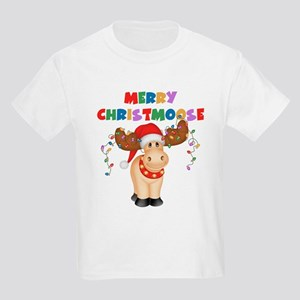 Merry Christmoose Kids Light T-Shirt