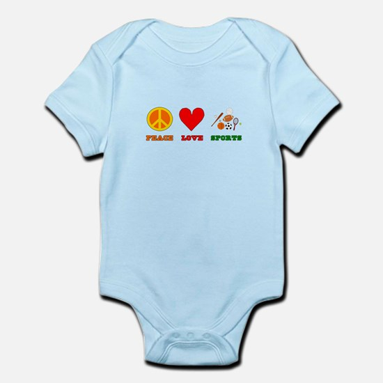 Peace Love Sports Infant Bodysuit