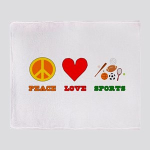 Peace Love Sports Throw Blanket